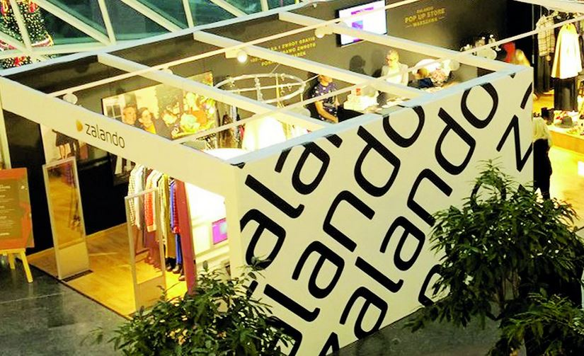 Pop up store marki Zalando